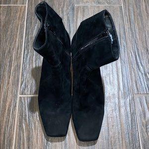 Nine West suede squared tip booties